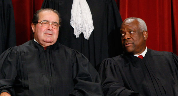 Strangely, both Scalia and Thomas were regular attendees at Koch-Industries sponsored retreats.