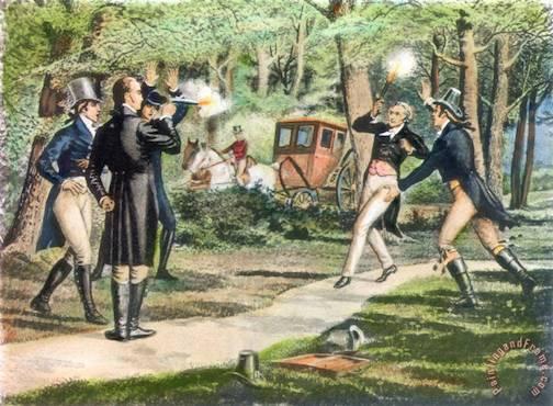 Hamilton-burr Duel, 1804 Painting; Hamilton-burr Duel, 1804 Art Print for sale