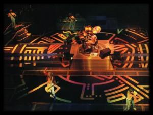 1987 - hysteria tour stage