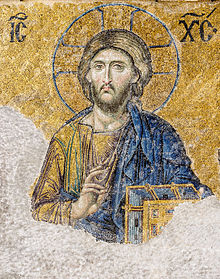 Christ Pantocrator mosaic at Hagia Sophia.