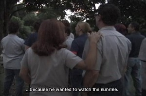 Artist Beatriz Muñoz's work included an intervention where factory workers in Mexico got to watch the sunrise.