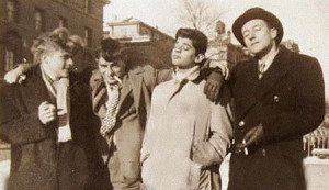 Hal Chase, Jack Kerouac, Alan Ginsberg and William S. Burroughs at Columbia