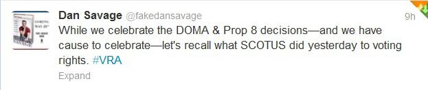 Dan Savage 6-26-13