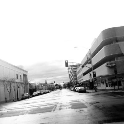 Downtown Bakersfield. So retro-70s.