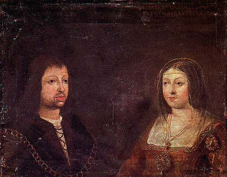 Wedding portrait of Ferdinand and Isabella.