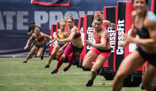 2013 CrossFit Games, Women's ZigZag Sprint, Final Heat, Home Depot Center, Cason City, California, image courtesy of CrossFit Inc.