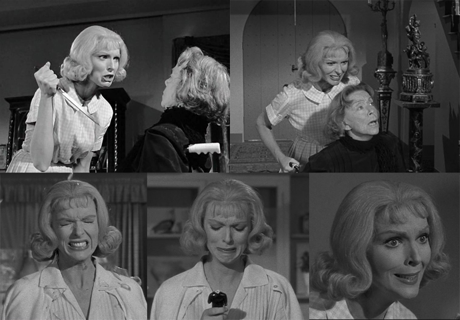 Joan Marshall in HOMICIDAL (with Eugenie Leontovich)