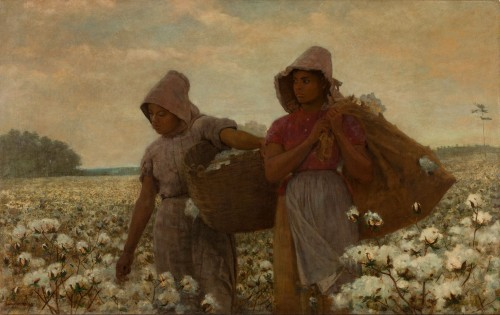 Winslow Homer The Cotton Pickers, 1876 oil on canvas 24 1/16 x 38 1/8 in. Los Angeles County Museum of Art, Los Angeles, CA, Acquisition made possible through Museum Trustees: Robert O. Anderson, R. Stanton Avery, B. Gerald Cantor, Edward W. Carter, Justin Dart, Charles E. Ducommun, Camilla Chandler Frost, Julian Ganz, Jr., Dr. Armand Hammer, Harry Lenart, Dr. Franklin D. Murphy, Mrs. Joan Palevsky, Richard E. Sherwood, Maynard J. Toll, and Hal B. Wallis, M.77.68 Digital Image © 2012 Museum Associates/LACMA