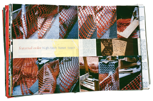 """I Love New York, Crazy City. 1995–96 Paper, gelatin silver and chromogenic color prints, and tape, in three books, each 15 3/8 x 12 5/8 x 2 3/4"""" (39 x 32 x 7 cm). Collection the artist"""