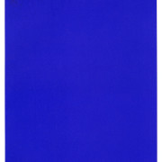 IKB 191, aka International Klein Blue, a painting of Yves Klein's made with his patented color which was IKB was developed by him and chemists at pharma co Rhône Poulenc.