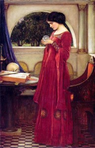 The Crystal Ball. John William Waterhouse 1902.
