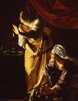 Judith and Her Maidservant with the Head of Holofernes, Artemisia Gentileschi, ca. 1625, oil on canvas. Detroit Institute of Arts