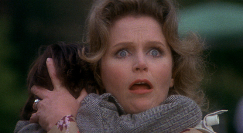 Lee Remick as Katharine Thorn can't protect her son herself in The Omen.