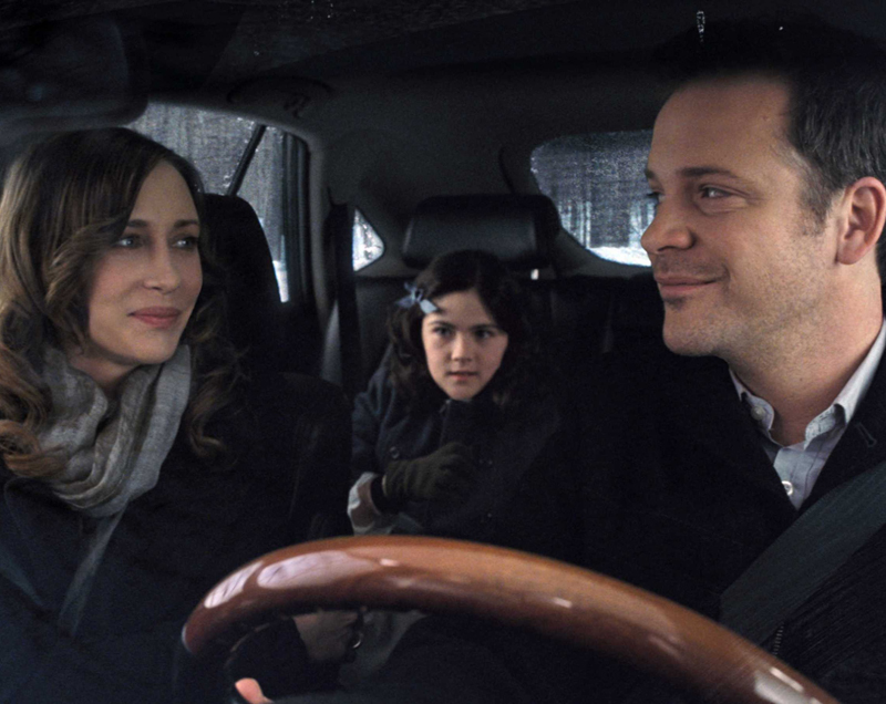 Vera Farmiga and Peter Sarsgaard meet their orphan,  Isabelle Fuhrman.