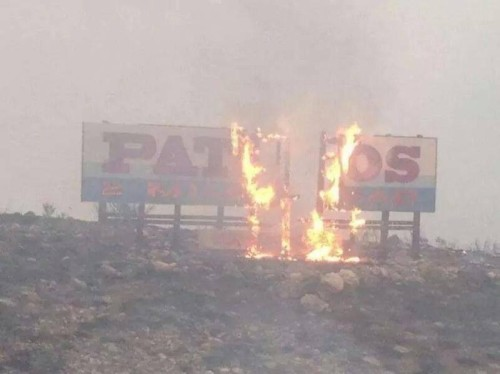 Pateros in flames