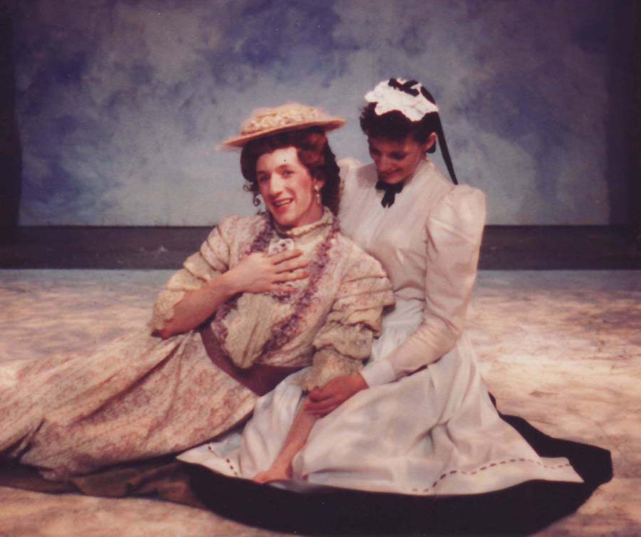 The author (with Julia K. Murney) as Betty and Ellen in Cloud 9, 1994, Perry Street Theatre. (photo: author's private collection)