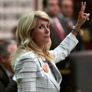 Wendy Davis during her 13-hour filibuster.