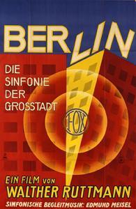 Poster for the film Berlin: Die Sinfonie der Grosstadt (Berlin: Symphony of the Metropolis) directed by Walther Ruttmann 1927 Colored lithograph Printer: Lindemann/Lüdecke, Berlin Universität zu Köln