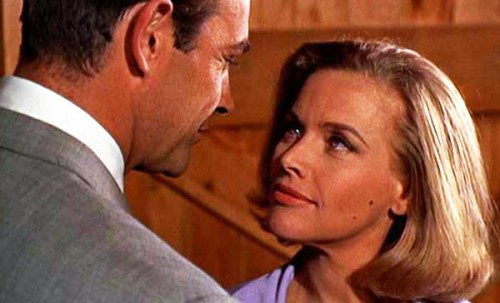 Bond and Galore. Still shot from Goldfinger.
