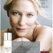Cate Blancett is an SK-II ad that ran in Vogue magazine.