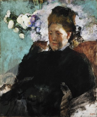 Portrait of a Lady, Edgar Degas, 1877, oil on canvas, Detroit Institute of Arts.