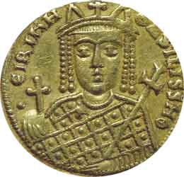 Gold coin of Empress Irene.