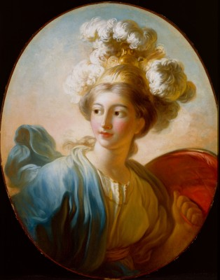 The Goddess Minvera,  Jean Honore Fragonard, c. 1772, oil on canvas, Detroit Institute of Arts.