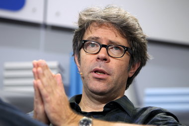 "Franzen looking pious. Yes, writers are not important enough to the ""Culture."""