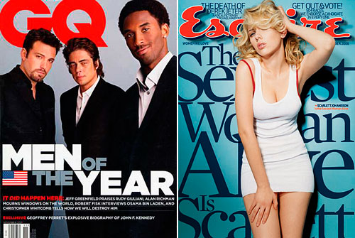 GQ & Esquire covers