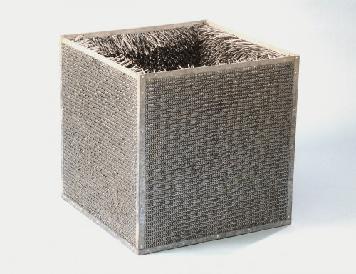 Accession II, Eva Hesse, 1968 (1969), galvanized steel and vinyl, Detroit Institute of Arts.