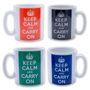 Keep Calm on rugs, mugs and inspirational office posters.