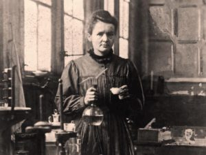Marie Curie, not giving a TED talk.