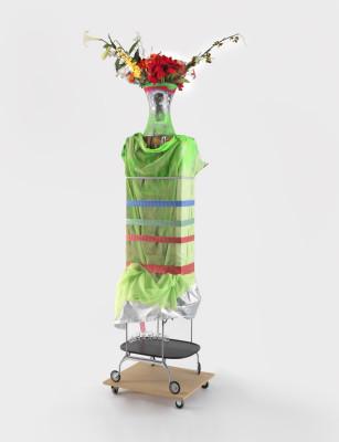 "Isa Genzken. Hospital (Ground Zero), 2008. Each: 122 ¹³/¹⁶ × 24 ¹³/¹⁶ × 29 ¹⁵/¹⁶"" (312 × 63 × 76 cm). Collection Charles Asprey Courtesy the artist and Galerie Buchholz, Cologne/Berlin © Isa Genzken"