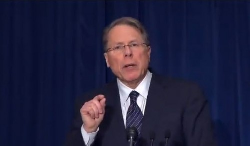 The NRA's Wayne LaPierre demonstrates the size of his L'il Wayne.