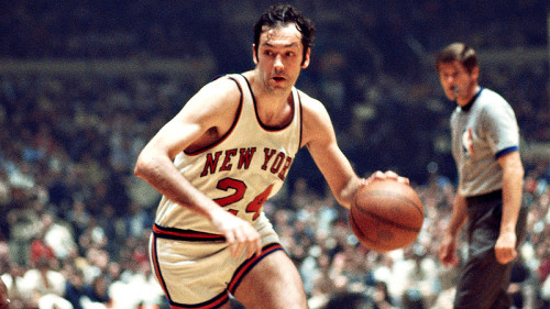 Bill Bradley during his playing days with the New York Knicks.