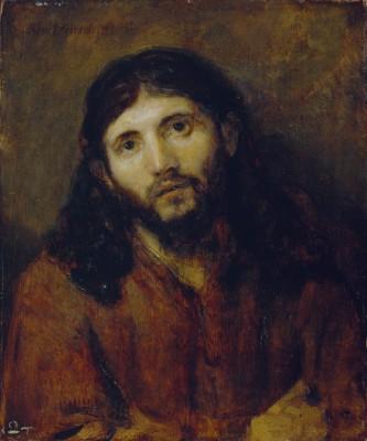 Head of Christ, Rembrandt van Rijn, c. 1648/1650, oil on oak panel. Detroit Institute of Arts