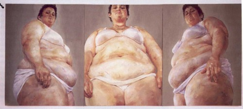 Strategy (South Face / Front Face / North Face, 1993/1994 Oil on canvas (triptych) 274 x 640 cm