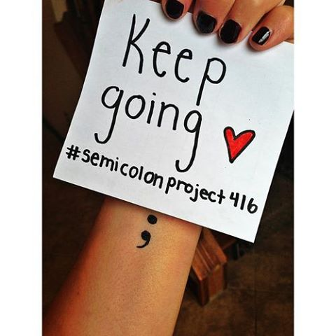 Photo from The Semicolon Project.