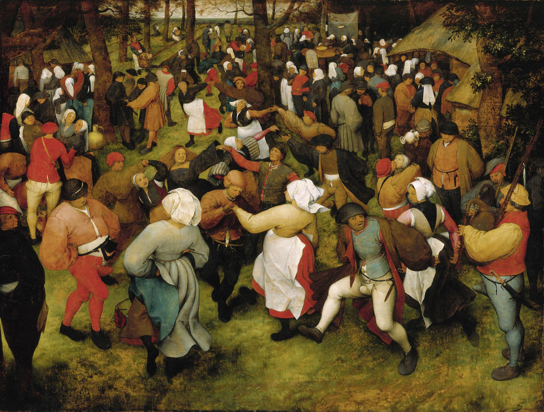 The Wedding Dance, Pieter Bruegel the Elder, ca. 1566, oil on oak panel. Detroit Institute of Arts