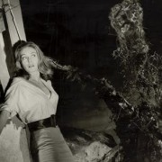 """But I really got hot / When I saw Janette Scott / Fight a triffid that spits poison and kills."""