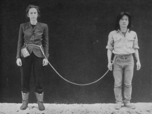 Linda Montana and tied together in One Year Performance, 1980-81.