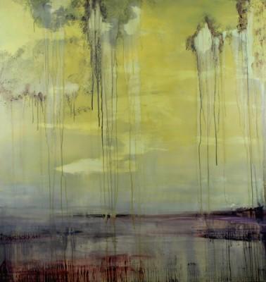 "Astrid Cravens, Summer 2009. 2010, Oil on panel, 48"" x 46"", courtesy of the artist."