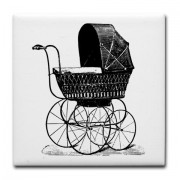 victorian_baby_carriage_tile_coaster