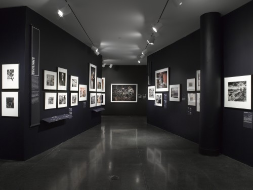 """WAR/PHOTOGRAPHY"" installation shot. Courtesy of the Brooklyn Museum."