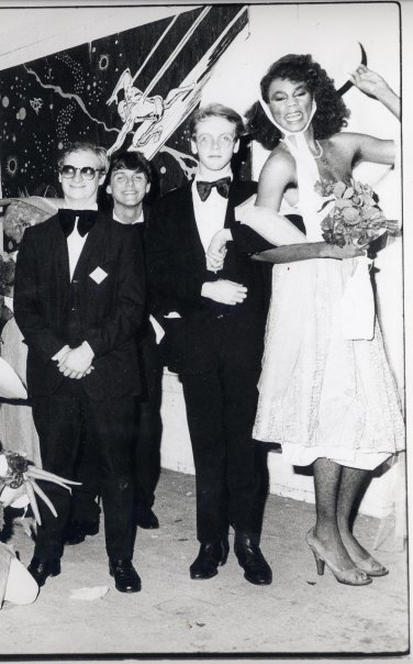 Wee Wee Pole, 1983 l. to r. David Klimchak, RBW, Todd Butler, RuPaul by Jon Witherspoon